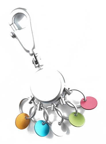 troika-patent-color-key-chain-with-5-exchangeable-colored-rings-by-fine-european-stuff-japan-import