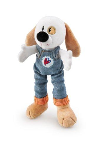 """Trudi Plush Dog in Blue Overalls, 8"""""""