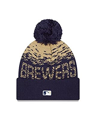 MLB Milwaukee Brewers Headwear, Navy/Cream, One Size