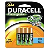 Duracell Batteries - Rechargeable AAA 1000 Mah Pack Of 4