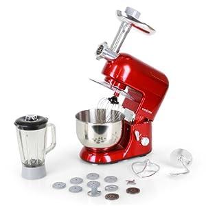 Klarstein lucia rossa robot de cuisine multifonction robot m nager complet - Robot de cuisine multifonction ...