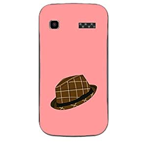 Skin4gadgets Hipster Pattern- Hat, Color - Salmon Phone Skin for MICROMAX Bolt (A35)