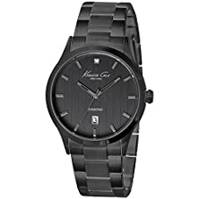 buy Kenneth Cole New York Black Stainless Steel Diamond Mens Watch 10021097