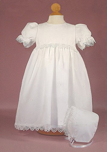 Embroidered Eyelet Christening Gown - Buy Embroidered Eyelet Christening Gown - Purchase Embroidered Eyelet Christening Gown (LD Creations, LD Creations Apparel, LD Creations Toddler Girls Apparel, Apparel, Departments, Kids & Baby, Infants & Toddlers, Girls, Skirts, Dresses & Jumpers, Dresses)