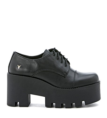 Windsor Smith Fame high platform outsole leather - black