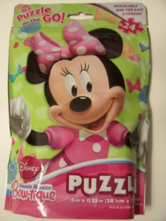 Disney Minnie Mouse Bow-tique 24 Piece Puzzle in a Bag ~ Minnie - 1