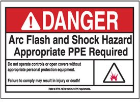 Danger ppe arc flash label amazoncom industrial for How to read arc flash labels