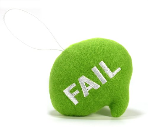 "Throwboy Throwbabies ""FAIL"" Chat Mini 3.5"" Throw Pillow, Green"