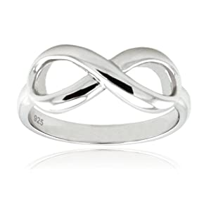 Sterling Silver Infinity Ring ** SPRING SPECIAL PRICE ** (Size 7) Available Size: 4, 4.5, 5, 5.5, 6, 6.5, 7, 7.5, 8, 8.5, 9, 9.5, 10