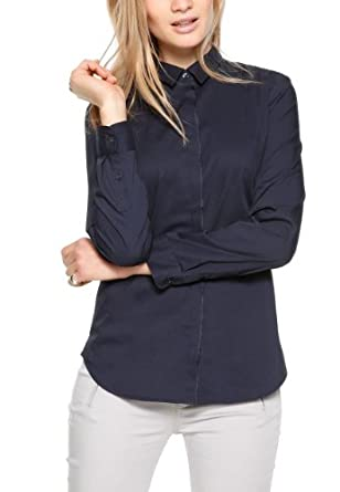 SIR Oliver Damen Regular Fit Bluse 11.402.11.6001, Gr. 36, Blau