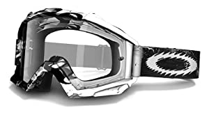 Oakley Proven MX Storm Goggles with Clear Lens (Black/White, One Size)