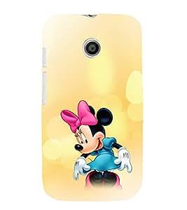EPICCASE Minnie Rays Mobile Back Case Cover For Moto E (Designer Case)