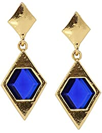 Bindhani Trendy Fashion Blue Ear Rings For Girls