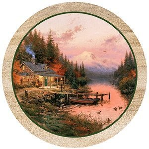 Thirstystone Thomas Kinkade The End of a Perfect Day Coaster Set