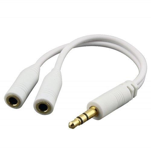 Xenda Universal 3.5Mm Plug Stereo Headset Audio Jack Dual Splitter For At&T Apple Iphone 5 - Apple Ipad 2 - Apple Ipad Mini - Apple The New Ipad - Blackberry Curve 8520 - Blackberry Curve 8900