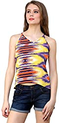 ShilpKala Women's Sleeveless Top (skt3024l, Multi-colour, Large)