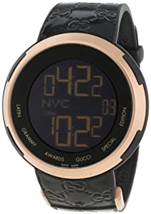 Gucci Men's YA114102 I-Gucci Latin Grammy Special Edition Black Watch