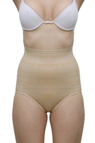 Laceandme Women's Tummy Control High Waist Panty Shaper (LM-OPERTUMH_Skin_Free Size)