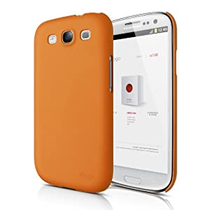 elago G5 Slim Fit Case for Verizon/AT&T/T-Mobile/Sprint Samsung Galaxy S3 - Eco Pack - Soft Feeling Orange