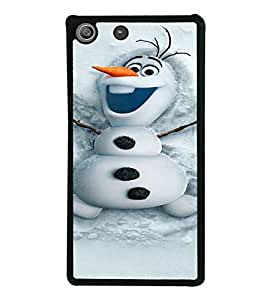 PrintVisa SONM5-Cute Snowman Design Metal Back Cover for Sony Xperia M5 Dual E5633 E5643 E5663, Sony Xperia M5 E5603 E5606 E5653