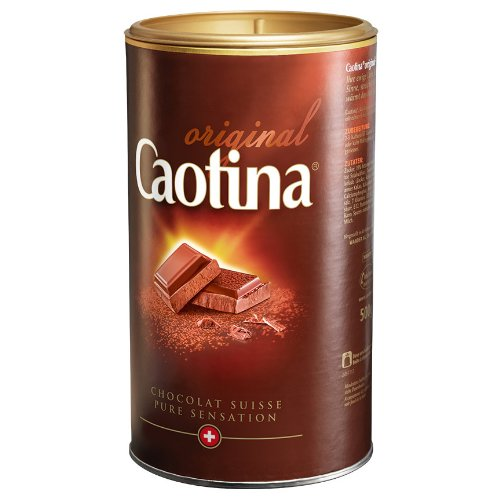 Caotina original, Cocoa Powder with Swiss Chocolate, Hot Chocolate, Box, 500g