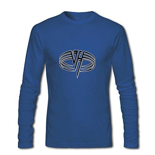 Fashion Van Halen long sleeve Tops T shirts -  Maglia a manica lunga  - Uomo Blue XX-Large