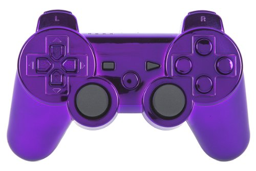 Purple Ps3 Controller PURPLE CHROME PS3 Modd...