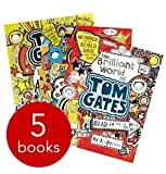 Liz Pichon's Tom Gates 5 Books Collection Pack Set RRP: £27.96 The Brilliant World of Tom Gates, Excellent Excuses, Everything's Amazing (sort of) , Genius Ideas (Mostly), Absolutely fantastic (at some things)