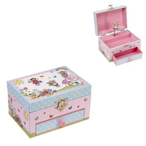 Musical Fairy Garden Jewellery Box with 1 Drawer