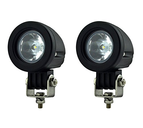 10w Mini Series Ip67 Cree Led Headlight Fog Lamp 800lm Spot Beam for Motorcycle Truck Jeep Offroad Driving Light(2pcs)