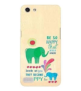EPICCASE Be so happy Mobile Back Case Cover For OPPO Neo 7 (Designer Case)