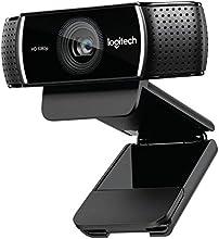 Logitech C922 Pro Stream - Cámara Web professional con micrófono y trípode, color negro