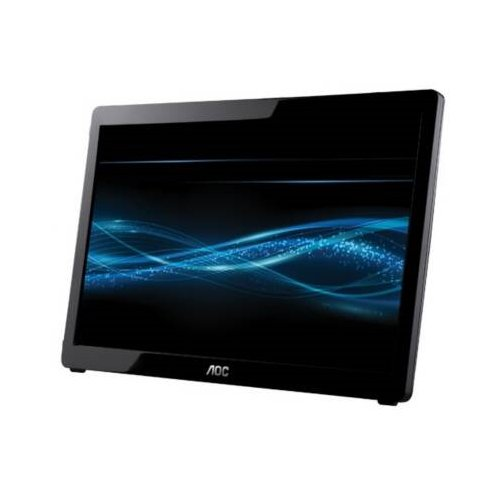 Aoc E1649Fwu 16 Wide Tft Lcd With Led Backlight 16Ms 500:1 (Static) 1366X768 Completely Usb Powered Ultra Slim Foldable Stand Glossy Piano-Black Lcd Monitor