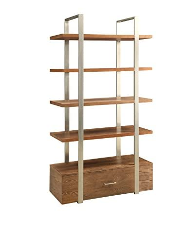 Coast to Coast Industrial 1-Drawer Bookcase, Natural