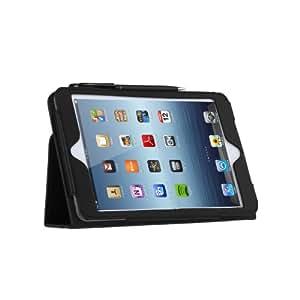 TeckNet iPad Mini Housse en cuir pour Apple Mini, avec rabat/stand de positionnement, support et le sort de veille + Stylet stylo + Film de protection écran - Noir