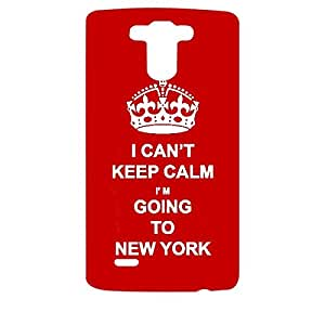 Skin4gadgets I CAN'T KEEP CALM I'm GOING TO NEW YORK - Colour - Red Phone Designer CASE for LG G3 (D851,855,830)