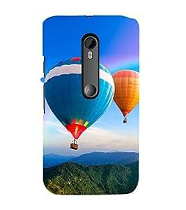 Hot Air Balloon 3D Hard Polycarbonate Designer Back Case Cover for Moto G Turbo Edition :: Moto G Turbo (Virat Kohli Edition)