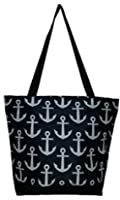 High Fashion Print Lined Zippered Tote with Interior Zippered Pocket
