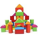 WSS 40 pcs de intelectual de la primera infancia de bloques de madera puzzle madera bebé trozos de juguetes montados