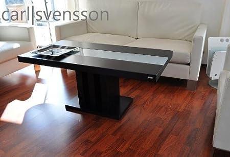 DESIGN COUCHTISCH S-444 schwarz Milchglas Carl Svensson Tisch NEU