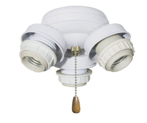 Emerson F330WW 3 Light Turtle Fitter Ceiling Fan Light Kit, Appliance White