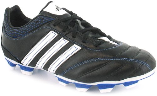 New Mens/Gents Black Adidas Football/Rugby Firm Ground Boots - Black/White/Blue - UK 8-13