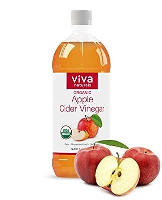 Viva Naturals Organic Apple Cider Vinegar, 32 Ounce