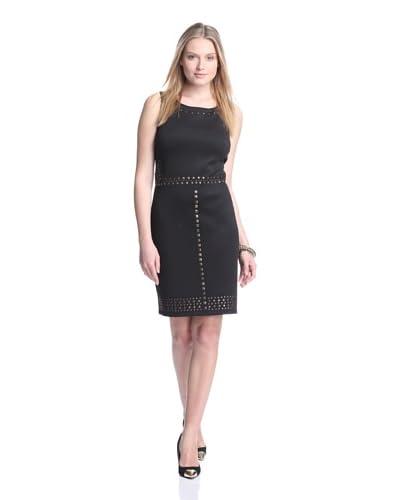 Gabby Skye Women's Sleeveless Scuba Dress with Studs
