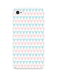 Amez designer printed 3d premium high quality back case cover for Apple iPhone 4s (triangle pattern)