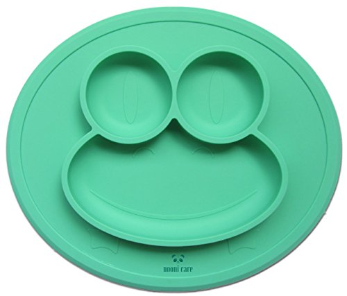 nooni-care-food-grade-silicone-placemat-non-slip-portable-kids-plate-w-divided-sections-bpa-pvc-and-