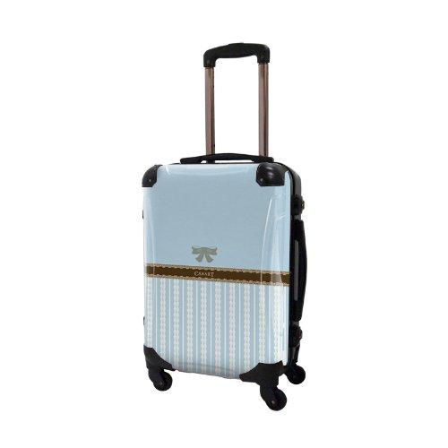 キャラート アートスーツケース プロフィトロール バニラ フレーム4輪 機内持込 (CRA01-008G(浅青藤色))