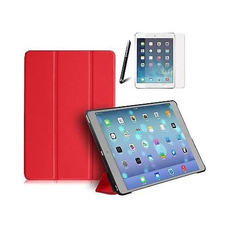 Tedim Ultra Thin Smart Case Protective Cover for Apple iPad Air - Red [PC]