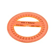 "ETA hand2mind, Safe-T Plastic, 4"" 360° Protractor, Set of 24, (75670)"