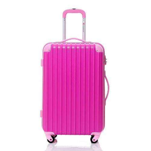 buy btm hard shell lightweight travel luggage suitcase 4. Black Bedroom Furniture Sets. Home Design Ideas